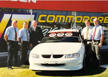 Rex Scoble, John Wadsworth, Holden Managing Director DonBowden, Jared Morris and Wayne Young - 1997