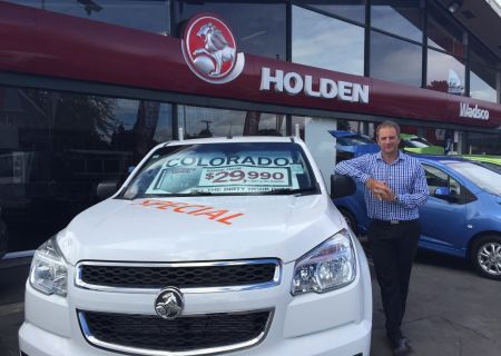 Jared Moris with Holden Colorado